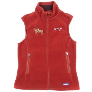 NWT Patagonia 'Amy' Embroidered Synchilla Vest | M